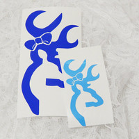 Small 1x3 Inch Doe Female Deer Silhouette Hunter's Graphic Permanent Vinyl Decal/Bumper Sticker