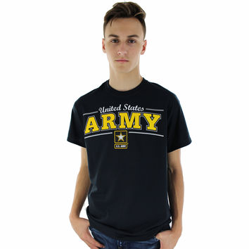 Mens United States Army Logo Black Short Sleeve T Shirt