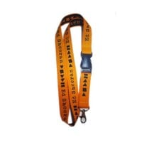 Orange Ed Sheeran Lanyard - Accessories