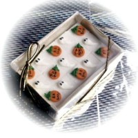 48 Decorated Sugar Cubes - Halloween