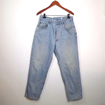 Vintage High Waisted Jeans - Vintage Men's GAP Jeans - Button Fly - Boyfriend Jeans - SZ 36