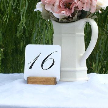 Table Number Holders Rustic Table Number holder (Set of 20) On Sale