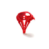 30% OFF SALE -- Cat Skull Ring in red - A red cat skull ring to adorn your hands