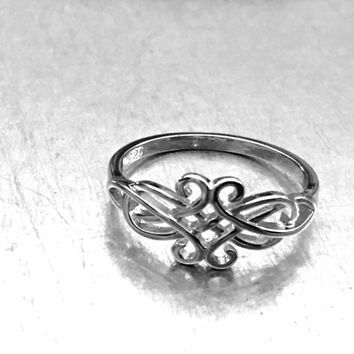 Celtic Ring, Sterling Silver Celtic Ring, Celtic Jewelry, Celtic Design, Celtic Knot Ring