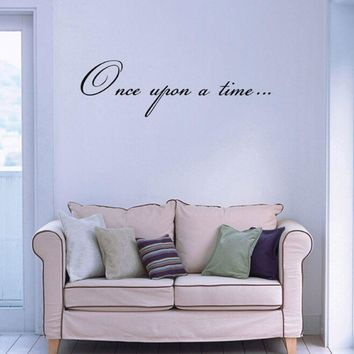 Once Upon A Time Wall Stickers Vinyl Lettering Wall Decal Prevent Decor Removable High Quality Art Sticker Waterproof Mural