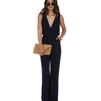 Navy Jump In Jumpsuit