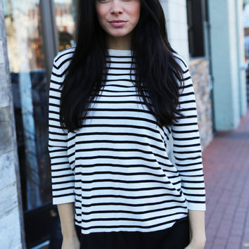 Sweetly Striped {Black + White}