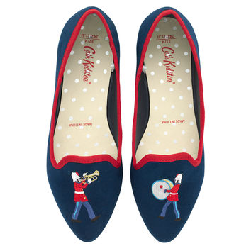 Marching Band Embroidered Pumps | Accessories | CathKidston