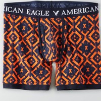 AEO Men's Printed Athletic Trunk (Orange)
