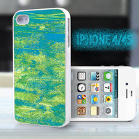 unique iphone case,glitter i phone 4 4s case,cool cute iphone4 iphone4s case,stylish  plastic rubber cases, yellow blue scrawl  , ZB13