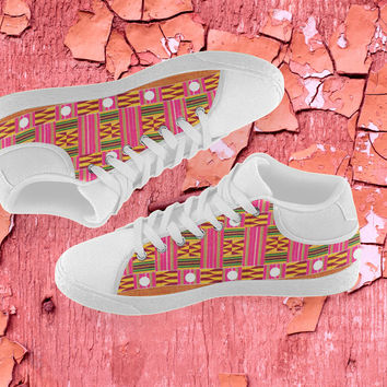 Kente print Women's  Canvas Shoes