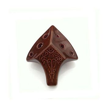 Spearhead Ocarina Soprano C in Java Brown