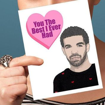 Drake Valentine Card   Anniversary Card Funny Valentine Hip Hop Card I Love You Card Naughty Card Rapper Card Sexy Valentine Day Card