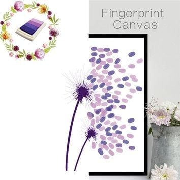 funlife Dandelion Fingerprint Wall Sticker Wedding Party Baby Shower Guest Book DIY Creative Home Decorations Mural Poster