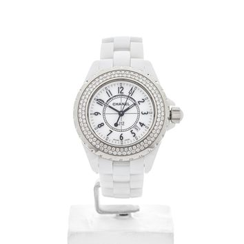 CHANEL J12 WHITE CERAMIC WATCH H0967 33MM W4330