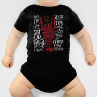 Mess With The Bull (red) Baby Clothes by Gigglebox