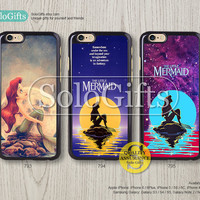little mermaid Ariel iPhone 6 case iPhone 6 Plus case Disney iPhone case iPhone 5 case, iPhone 5S Case, Galaxy S5 S4 S3 Note 2 Note 3, A0793