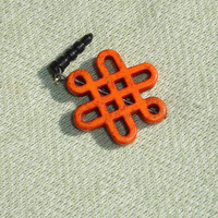 Orange Celtic Dangle Dust Plug Charm for Smart Phones - FREE Shipping
