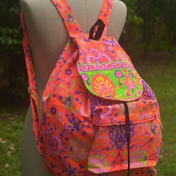 School Tribal Backpack Painted Bag Tribal Weekender bag Boho Hippie Ethnic Nepali Indian Hipster Bags Hippie Purse Weekender School Gift