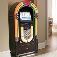 Crosley Digital Jukebox   iTunes and MP3   at Brookstone $5,000