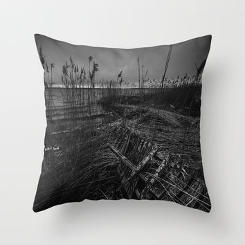 On the wrong side of the lake 12 Throw Pillow by HappyMelvin