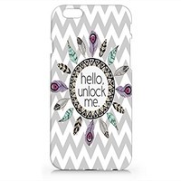 Craftdesign- Hello! Unlock Me Hard Cover Plastic Protection for Iphone 6 Hot Trend Design Pattern
