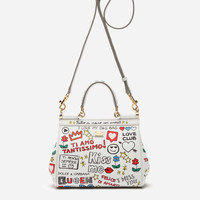 Women's crossbody bags and shoulder bags | Dolce&Gabbana - SMALL SICILY BAG IN PRINTED DAUPHINE CALFSKIN