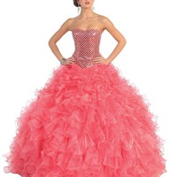 Sweetheart Corset Back Prom Homecoming Long Dress