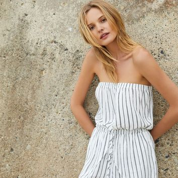 Lottie Moss Strapless Wrap Romper at PacSun.com