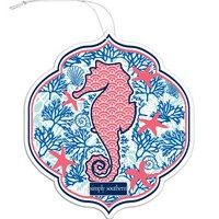 Simply Southern Preppy Air Freshener in Charleston Breeze AIRFRESH-PRPSEAHORSE
