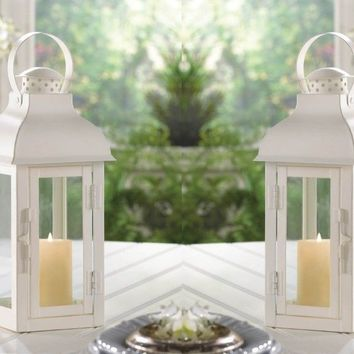 2 Terrace Medium White Lanterns