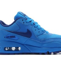 Blue Mens Hyperfuse Nike Air Max 90 Running Shoes