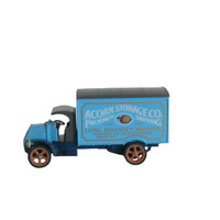 Vintage Matchbox Model Car 1920 Mack Truck Delivery Truck Blue Acorn Storage Co. Toy Models of Yesteryear Y30  - Made in England by Lesney