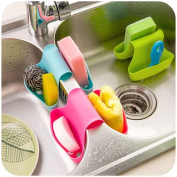 Double Sink Caddy Saddle Style Kitchen Organizer Storage Sponge Holder Rack Tool [8045586375]