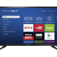 "Insignia™ - 32"" Class (31.5"" Diag.) - LED - 720p - Smart - Roku TV - Black"