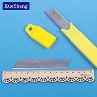 10PCS/set Art Blade 0.6mm Thickness Blade Trimmer Sculpture Blade Utility Knife Office School Stationery Supplies