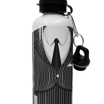 Pinstripe Gangster Jacket Printed Costume Aluminum 600ml Water Bottle All Over Print