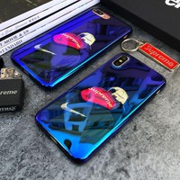 DCCKUNT Cool Mirror Nike * Supreme Print Iphone X 8 8 Plus 7 7 Plus 5 5S SE 6 6s Plus Case