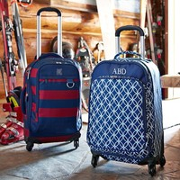 Jet-Set Navy Petal Chain Carry-On Suitcase