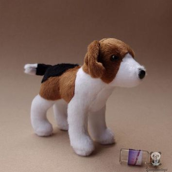 Beagle Dog Stuffed Animal Plush Toy 7""