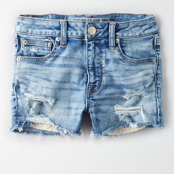 AE Denim X High-Waisted Short Short, Campus Brights