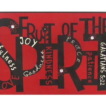 Galatians 5:22 Fruit of the Spirit Tin Sign | Shop Hobby Lobby