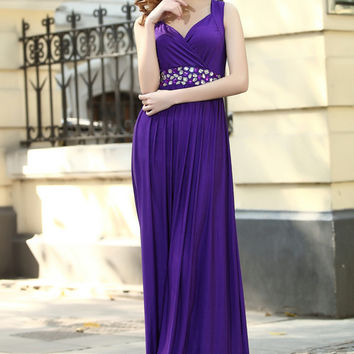 Cabury Purple bridesmaid dress beaded Maternity Dress Elegant Formal Maxi Dress Party Ball Gowns Prom dresses
