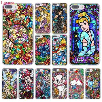 Lavaza Winnie the Pooh fairy tale stained Alice Mickey Mouse Case for iPhone 8 7 6 6S Plus 5 5S SE 5C 4 4S 10 X Tinker Bell