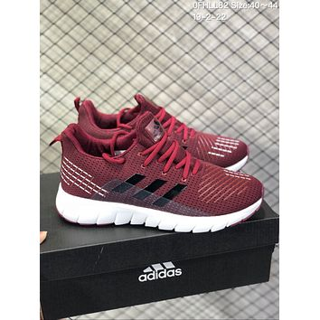 DCCK A592 Adidas Superstar II Mesh Brethable Running Shoes Wine Red