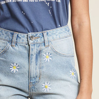 Fit to Flourish High-Waisted Jean Shorts
