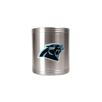 Carolina Panthers Insulated Stainless Steel Holder - Engravable Gift Item