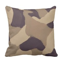 Camouflage Painting - Throw Pillow