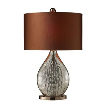Sovereign Table Lamp In Antique Mercury And Coffee Plating Antique Mercury,Coffee Plating