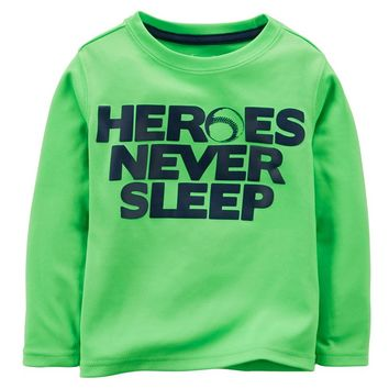 Carter's ''Heroes Never Sleep'' Active Tee - Toddler Boy, Size: